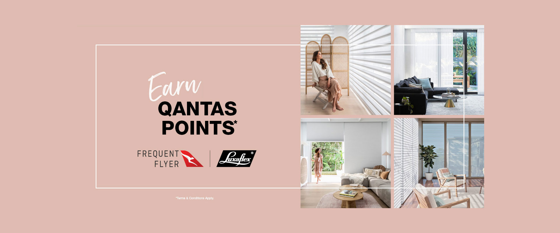 Earn Qantas points with Luxaflex